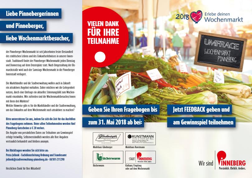 Attraktiver, bunter, interessanter: Pinneberg startet Umfrage zum Wochenmarkt