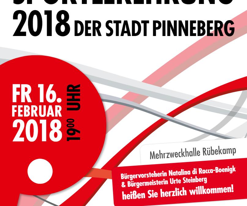 Sportlerehrung der Stadt Pinneberg am 16.02.2018